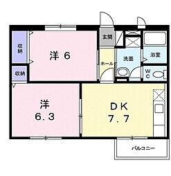 エルディム710[2階]の間取り