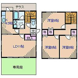 [一戸建] 神奈川県横浜市港北区富士塚2丁目 の賃貸【/】の間取り