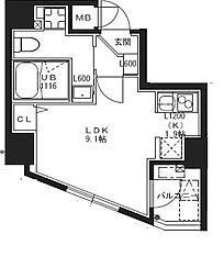 S−RESIDENCE池袋Norte[9階]の間取り