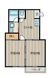 メーベンハイム[2階]の間取り