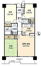 金沢文庫東パーク・ホームズ[2階]の間取り