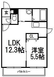 Meison・de・kiki(メゾン・ド・キキ)[4階]の間取り