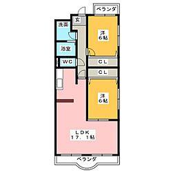 サンキャッスル岩崎[3階]の間取り