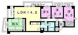 ロイヤルメゾン岩崎町[603 号室号室]の間取り
