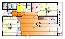 ファミールシーダ[2階]の間取り