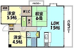 クレイドル東高須[7階]の間取り