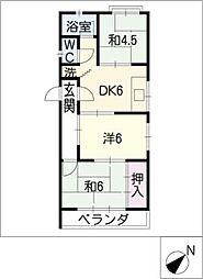 水谷マンション[2階]の間取り