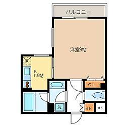 フォレシティ桜新町α[207号室]の間取り