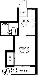 ハシビック狛江[303号室]の間取り