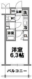 エスリード新大阪グランファースト[902号室]の間取り