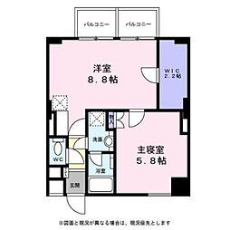 東京都八王子市大和田町4丁目の賃貸マンションの間取り