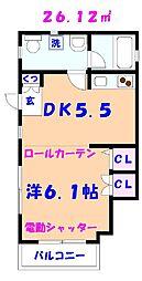 Aera須和田[101号室]の間取り