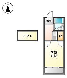 GRANDIA志賀本通[2階]の間取り