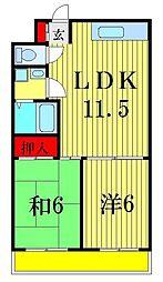 グレースハイム[2階]の間取り