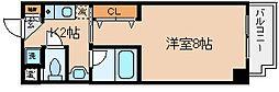 兵庫県神戸市兵庫区西上橘通1丁目の賃貸マンションの間取り