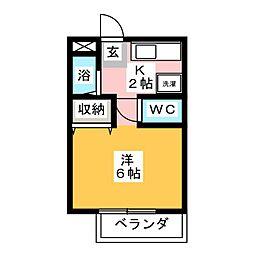 レジデンスフジ[2階]の間取り