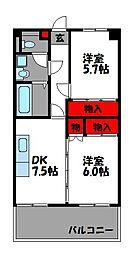ラプラース萩尾II[2階]の間取り