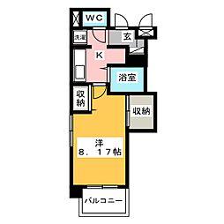 シャロム高宮[4階]の間取り