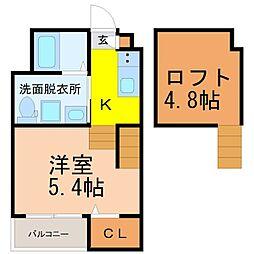 A・CORSO 八田[1階]の間取り