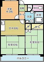 RAY神岳[403号室]の間取り