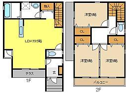 [一戸建] 愛知県名古屋市名東区一社4丁目 の賃貸【/】の間取り