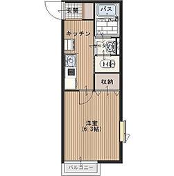 カーサソシエゴ[1階]の間取り