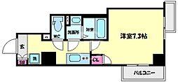 エスカーサ大阪WEST九条駅前 7階1Kの間取り