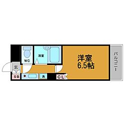 リバティ桜川[2階]の間取り