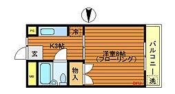 東京都三鷹市下連雀1丁目の賃貸アパートの間取り