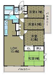 神奈川県川崎市麻生区高石2丁目の賃貸マンションの間取り
