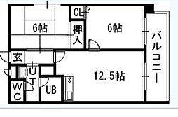 OMレジデンス札幌篠路[201号室]の間取り