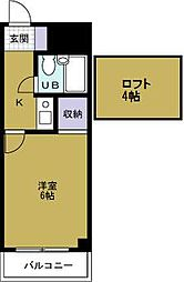 デイズハイツ八幡屋[9階]の間取り