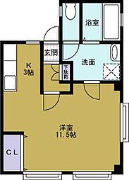 福楽ビル[2階]の間取り