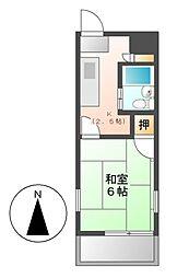 シーダーハイツ[3階]の間取り