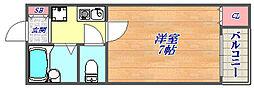 兵庫県神戸市灘区友田町1丁目の賃貸マンションの間取り