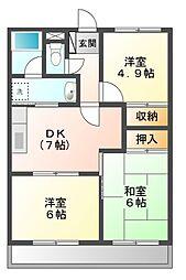サニーコートヒカリ[1階]の間取り