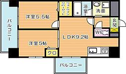 コンダクトレジデンス折尾[2階]の間取り