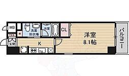 Groove Nipponbashi 13階1Kの間取り