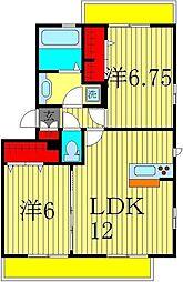 グランパティオ D[2階]の間取り