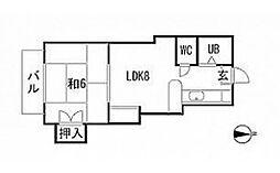 コスモ若葉台[1階]の間取り