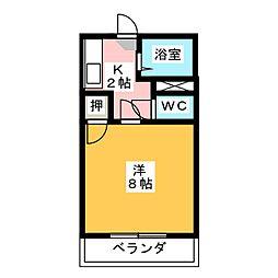 ワンハイツ  オカムラ[2階]の間取り