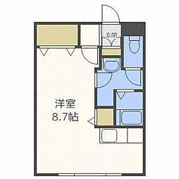 北海道札幌市北区北二十二条西2丁目の賃貸マンションの間取り