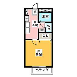椿ハイツ[2階]の間取り