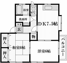 アメニティ・スクエア[1階]の間取り