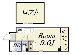 OrangeハウスII[5階]の間取り
