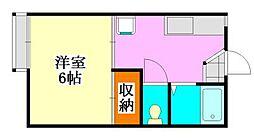 フォーブル森田[207号室]の間取り