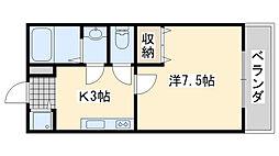 ディアコート高松[2階]の間取り