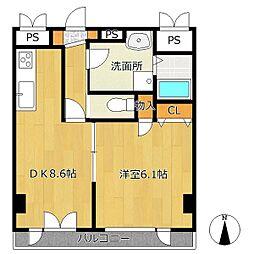 翠峯五番館[4階]の間取り