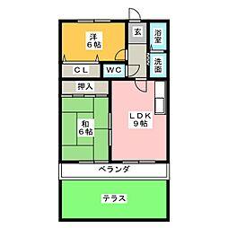ハイツ37[1階]の間取り