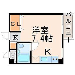 ルベラージュ甲子園[3階]の間取り